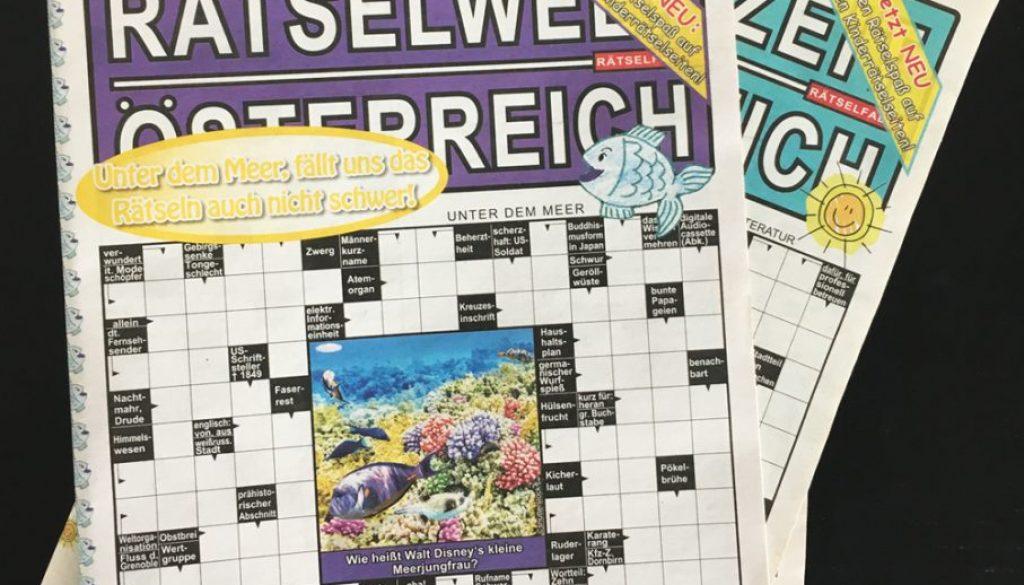 Unter dem #Meer fällt uns das Rätseln auch nicht schwer! Neue Ausgabe Rätselwelt Österreich – ab heute im Handel :)