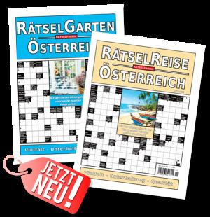 Rätselreise Österreich ab 10.01.19 Rätselgarten Österreich ab 31.01.19