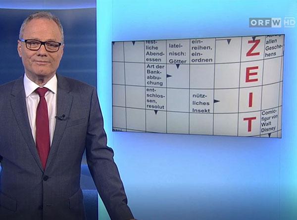 Ausschnitt aus dem Wien Heute Beitrag über die Rätselfabrik