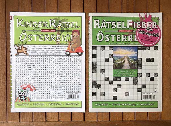 Neue Ausgaben von Rätselfieber Österreich und Kinderrätsel Österreich