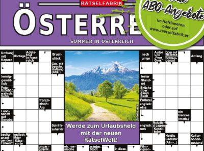 Neue Ausgaben von Rätselküche Österreich und Rätselwelt Österreich