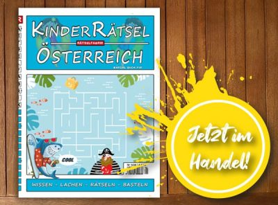 Neue Ausgabe vom Kinderrätsel Österreich