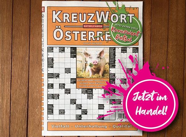Neue Ausgabe des Kreuzwort Österreich