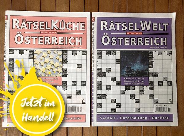 Neue Ausgabe der Rätseküche und der Rätselwelt