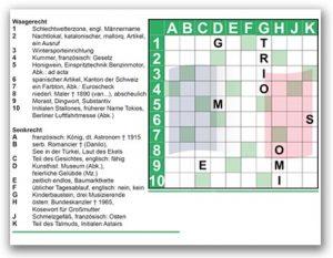 Französisches Kreuzworträtsel