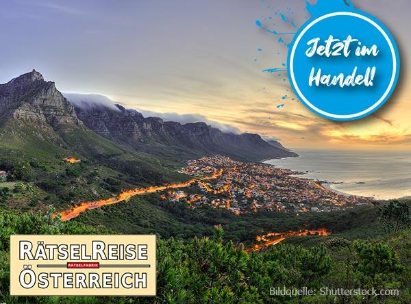 Neue Ausgabe Rätselreise Österreich mit dem Thema Auf nach Kapstadt
