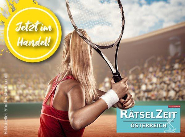 Neue Ausgabe der Rätselzeit Österreich zum Thema Tennis