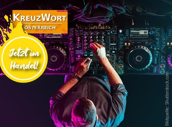 Neue Ausgabe Kreuzwort Österreich zum Thema Elektronische Musik