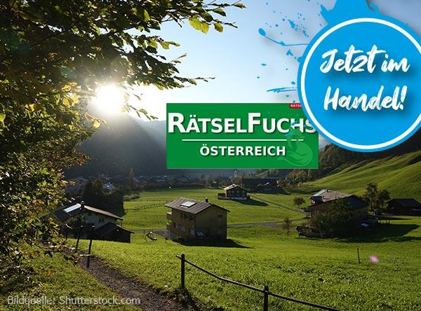 Neue Ausgabe Rätselfuchs Österreich zum Thema Bregenzerwald