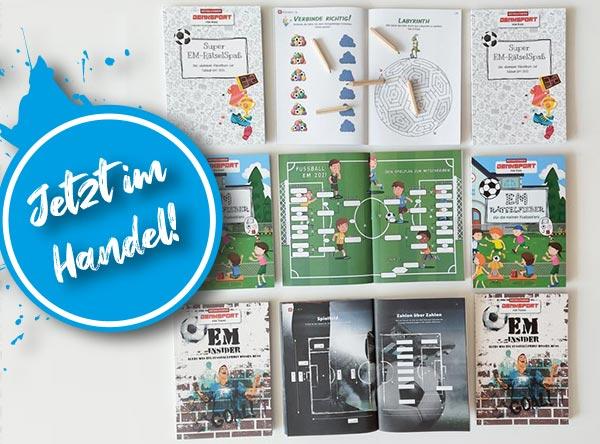 EM-Rätselbücher 2021 der Rätselfabrik Österreich