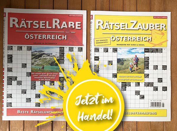 Neue Ausgaben des RätselRabe und des RätselZauber Österreich