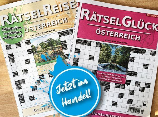 Neue Ausgaben von Rätselreise Österreich und Rätselglück Österreich