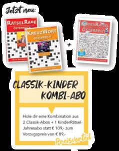 Abo-Anzeige Kinderrätsel Österreich