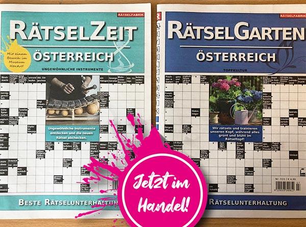 Neue_Ausgaben_Rätselgarten_Rätselzeit_Österreich